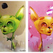 GREEN CAT or YELLOW CAT by SRCARAMELOS