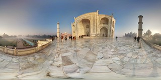 Зображення Taj Mahal поблизу Āgra. morning panorama india fog tajmahal agra 360 photosphere