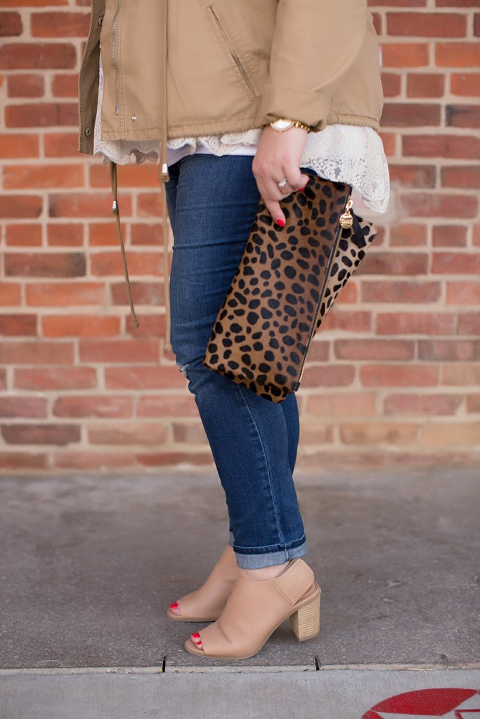 Leopard Clutch, Clare V, Head to Toe Chic