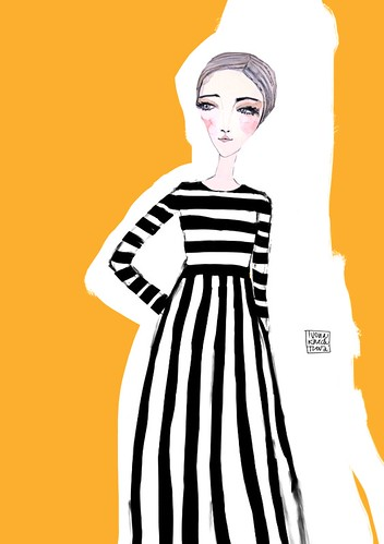 Fashion illustration - Maison Valentiono AW2015