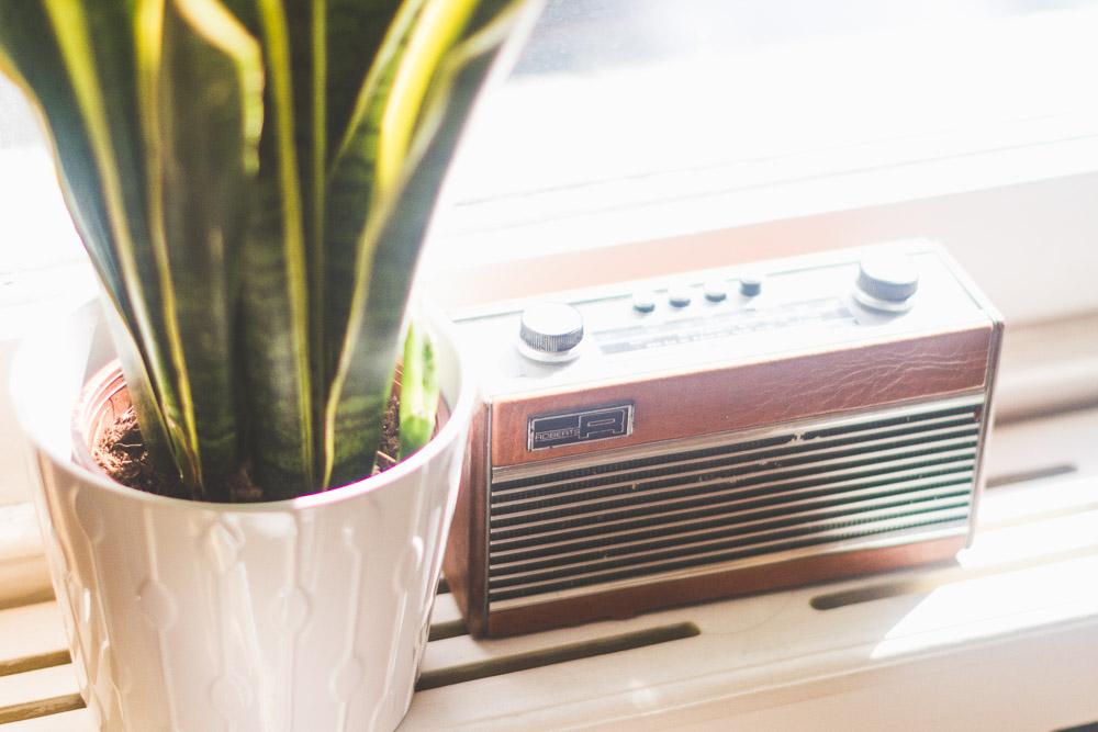 midcentury style colourful home retro radio