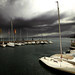 a stormy day on the lake