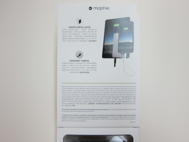 Mophie Powerstation Plus (12,000mAh) - Box Open Top