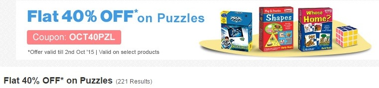 Firstcry puzzle Flat 40% offer