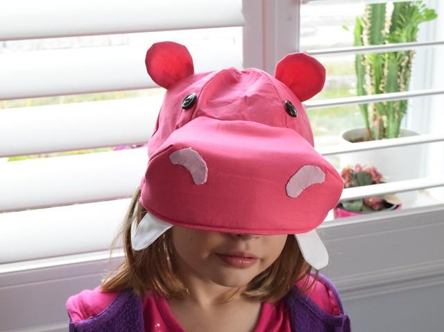 Pink hippopotamus costume