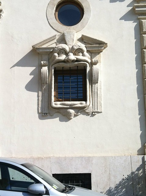 Palazzetto Zuccari window monster face