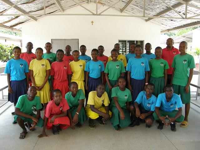 Mr Joe, the class teacher, with his Standard 8 pupils