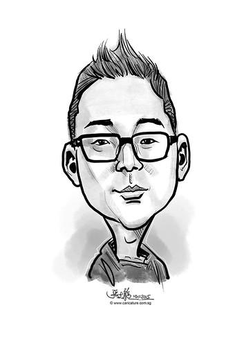 digital caricature for eBay - Choi, Jun Ho