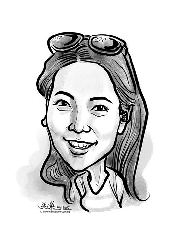 digital caricature for eBay - Eun Ock Kim