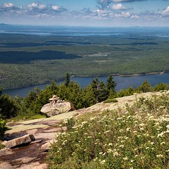 View from Cadillac Mountain in Acadia National Park, Maine, USA. #travel #maine #usa