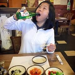 Sally + Soju = :blush: #pdxeats #koreanfoodcrawl