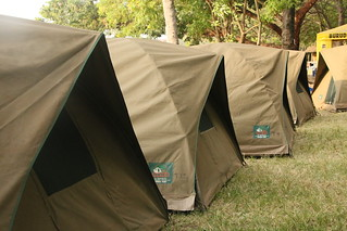 Tenting on Lake Victoria.