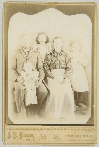 Cabinet Card Family of Five