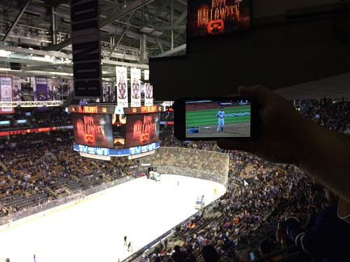 Mets game watching during hockey intermission. Thanks Air Canada Centre for free wifi!