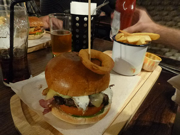 burger au pub