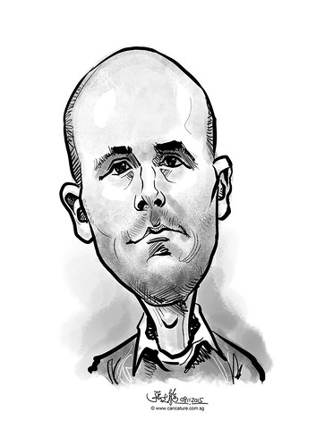 digital caricature for eBay - Christopher Wight