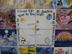 Close up on the Peace Wall