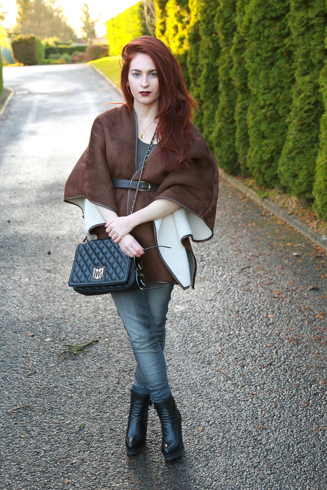 streetstyle, shearlingcoat, riverisland, raybanclubmaster, gemporia, pearlnecklace,