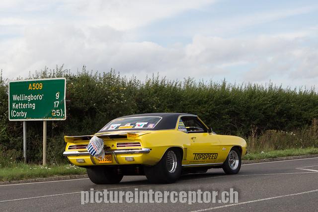 Bill Macdermid - The top speed Automotive Street Eliminator on the cruising around the Santa Pod Raceway.