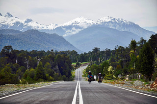 Vue de la carretera austral avant le village de La Junta