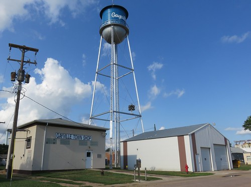 Gayville, South Dakota Water Tower and Town Shops