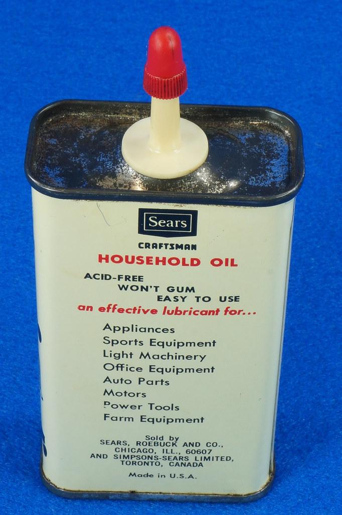 RD14508 Vintage SEARS Craftsman Household Oil 4oz Handy Oiler Can DSC06166