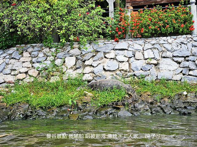 曼谷景點 長尾船 昭披耶河 傳統水上人家 6