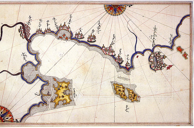 Gulf and Island of Djerba on the Book of Navigation of Piri Reis