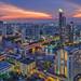 River in Bangkok city by anekphoto