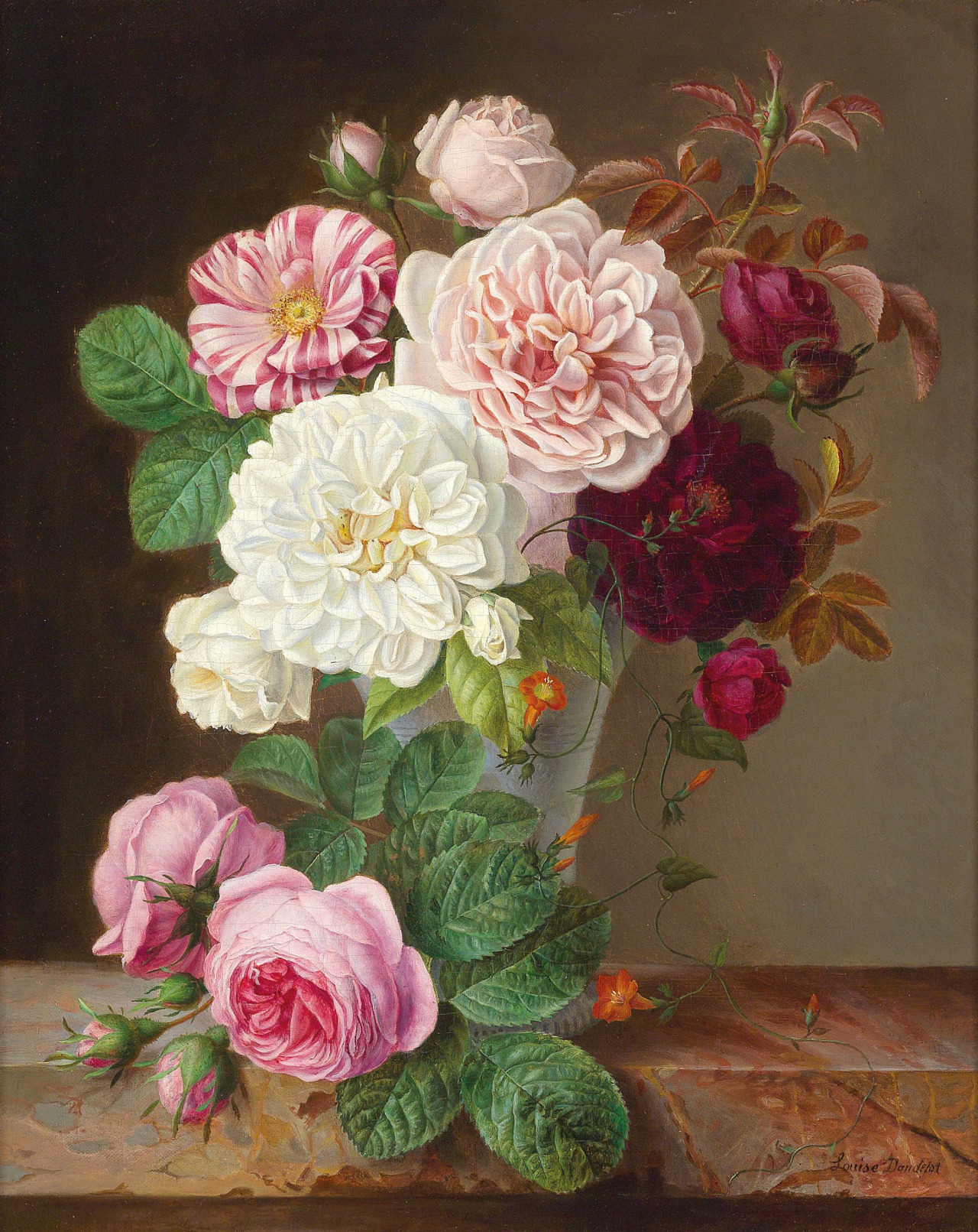 A Beautiful Bouquet by Louise Dandelot, 1866