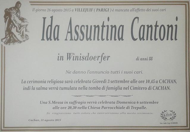 Cantoni Ida Assuntina
