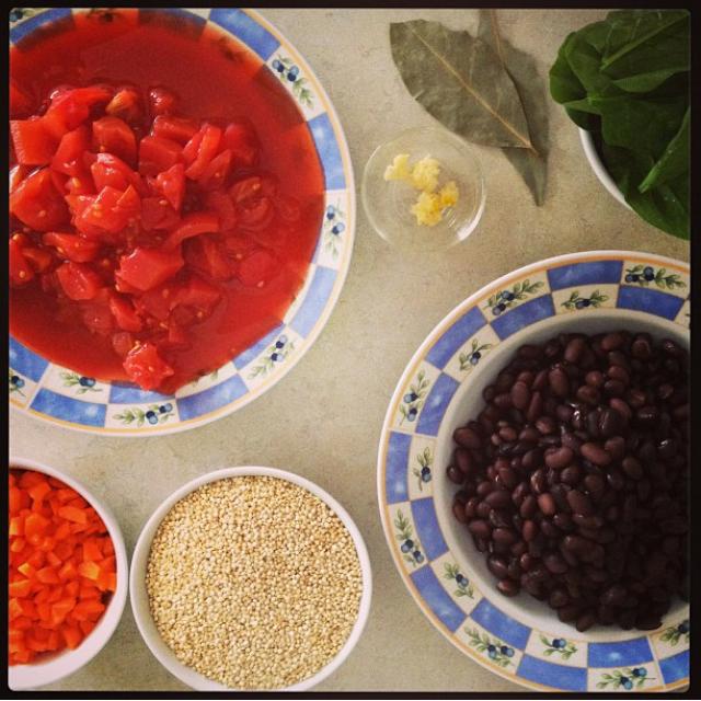 Black Bean and Quinoa Soup