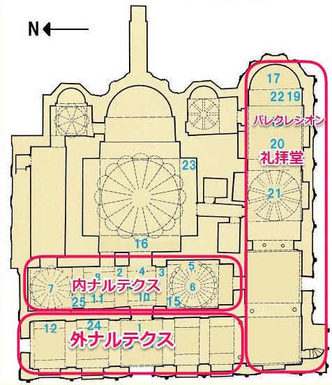 カーリエ博物館内部案内図