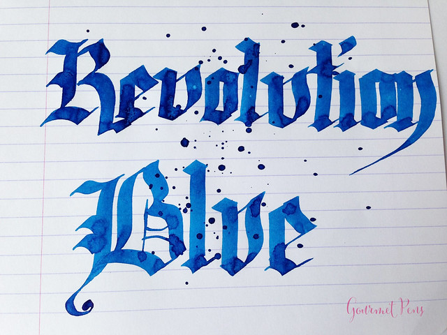 Ink Shot Review Noodler's Revolution Blue @GoldspotPens @CarolLuxury (5)