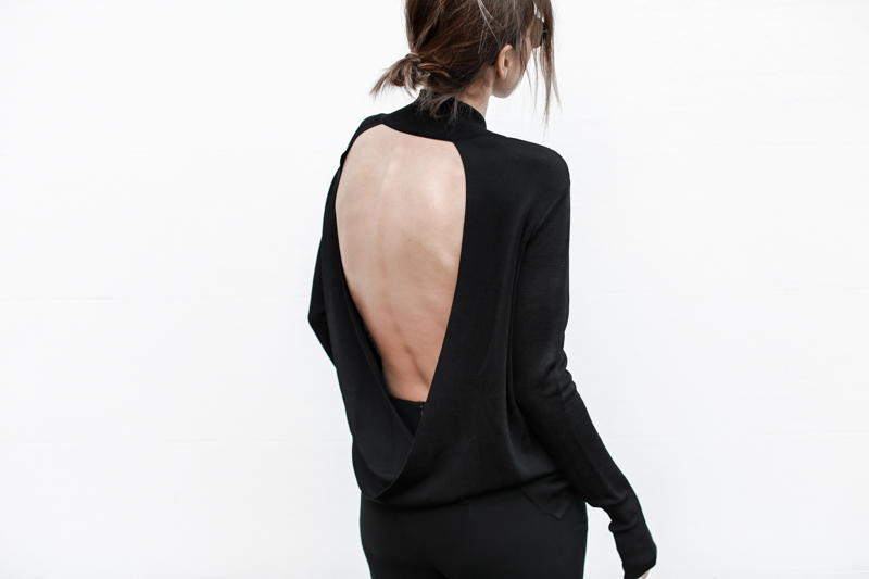 Dion Lee open back knit, all black outfit, street style, fall, MODERN LEGACY blog (1 of 1)