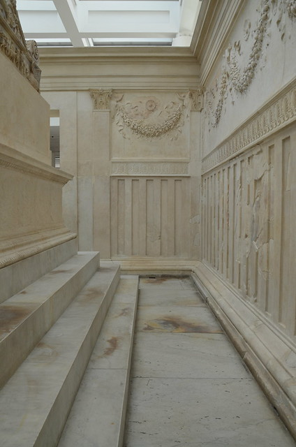 The Ara Pacis Augustae or Altar of the Augustan Peace, built to celebrate the return of Augustus to Rome in 13 BC following campaigns in Spain and Gaul, Museo dell'Ara Pacis, Rome