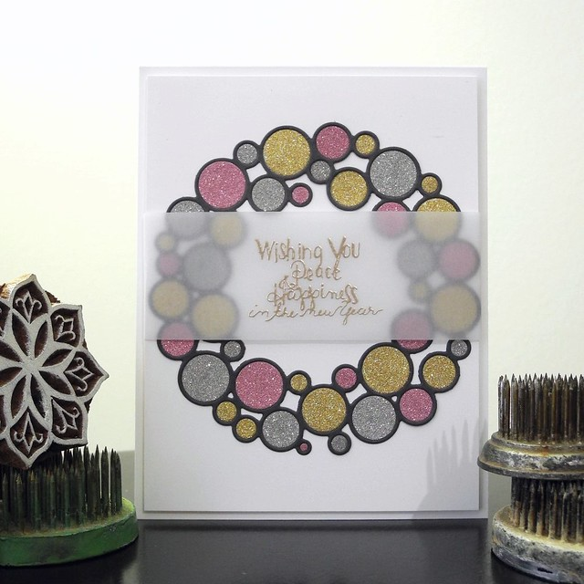 Peace and Happiness by Jennifer Ingle #JustJingle #SimonSaysStamp #Cards #Christmas