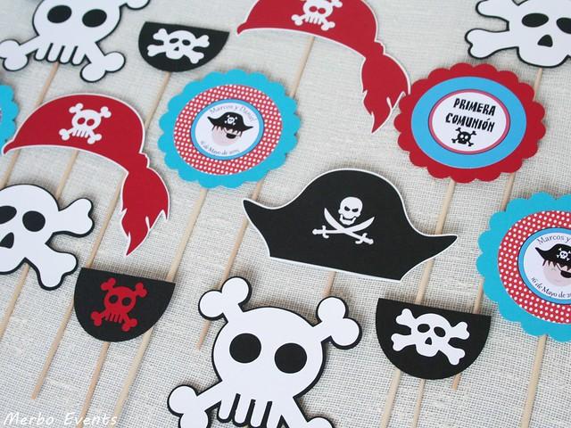 Centros de mesa Comunión pirata Merbo Events
