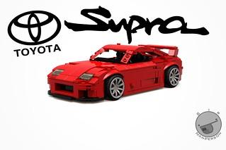 Toyota Supra - 10-wide - Lego