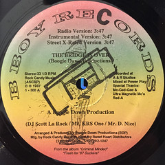BOOGIE DOWN PRODUCTIONS:THE BRIDGE IS OVER(LABEL SIDE-A)