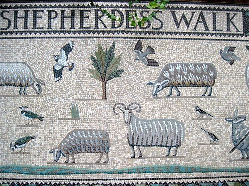 Mosaic in Shepherdess Walk Park