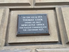 Photo of Thomas Cook black plaque