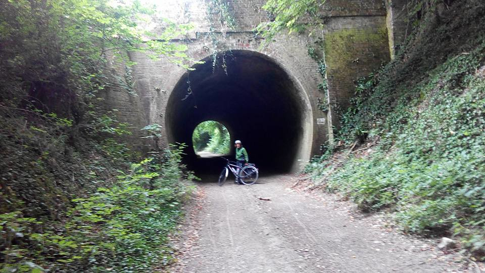 Cycling a disused railway line