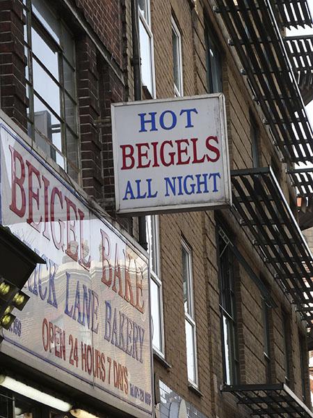 hot beigels all night