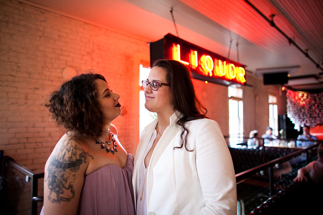 Lindsey and Shaun's Wedding at Lambert's BBQ in Downtown Austin, Texas, Love Wins, Gay Wedding, Lesbian Wedding
