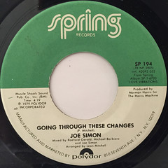 JOE SIMON:GOING THROUGH THESE CHANGES(LABEL SIDE-A)