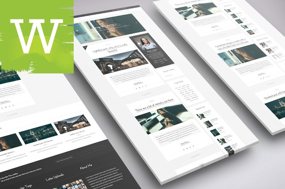 Creativemarket WordPress Elegant Blog Theme v1.0