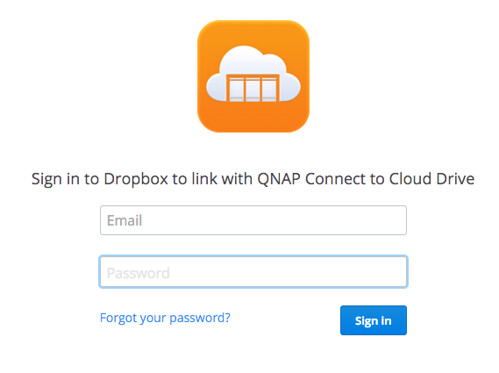 ล็อกอินเข้าใช้บริการก่อน (อันนี้คือ Dropbox)