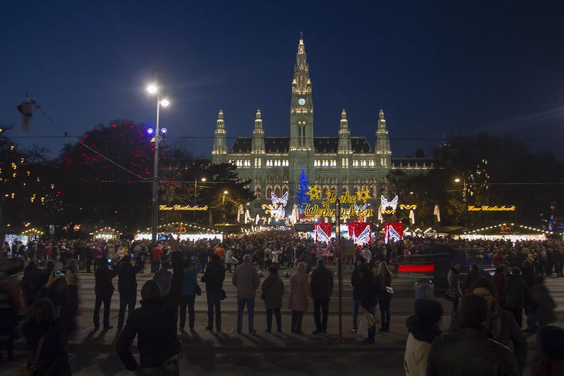 Christmas Market near Wiener Rathaus, Vienna - Austria