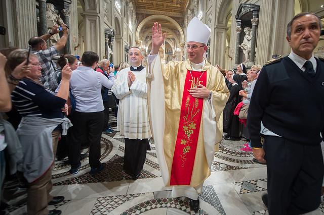Msza święta w Bazylice św. Jana na Lateranie, pod przewodnictwem abp. Wojciecha Polaka